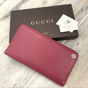 Gucci Mauve Pink Leather XL Organizer Wallet